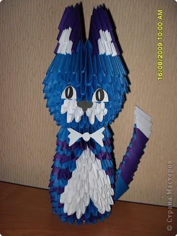 Оригами модульное: Моя кошка