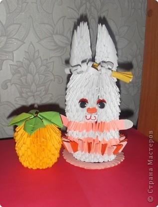 Зайка любит апельсин