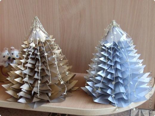 Оригами: Елочки  фото 1
