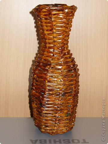Плетеная ваза фото 2