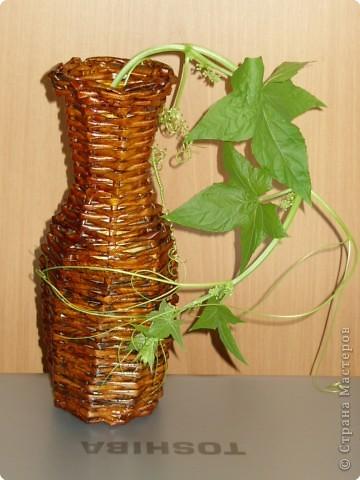 Плетеная ваза фото 1