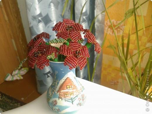 Бисероплетение: Несколько моих цветочков* фото 3