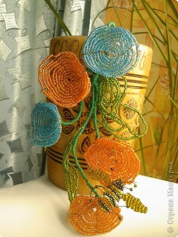 Бисероплетение: Несколько моих цветочков* фото 1
