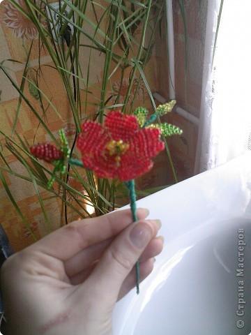 Бисероплетение: Несколько моих цветочков* фото 5
