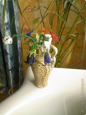 Бисероплетение: Несколько моих цветочков* фото 4