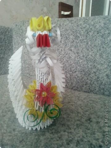 Оригами модульное: царевна лебедь фото 2