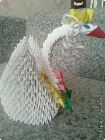 Оригами модульное: царевна лебедь фото 3