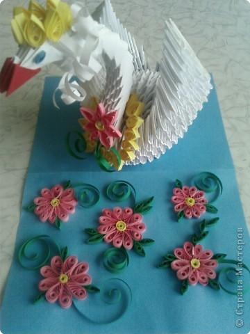 Оригами модульное: царевна лебедь фото 4