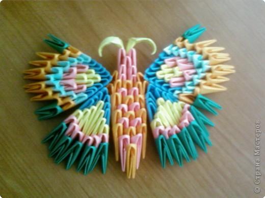 Оригами модульное: Стрекоза и бабочка фото 2