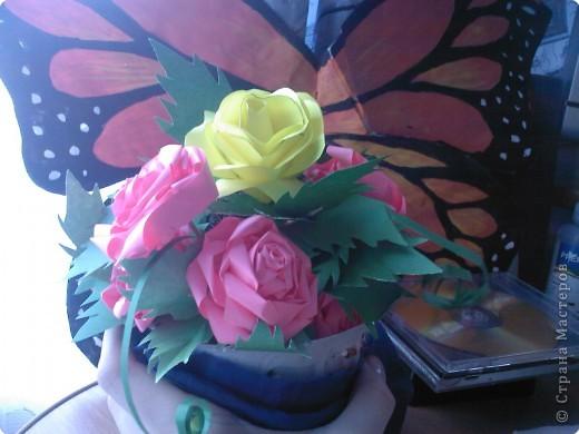 Квиллинг: Розовое дерево фото 2