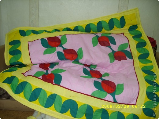 """лоскутное одеяло """"Розы"""""""