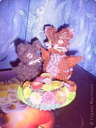 Квиллинг: Кот и мышь