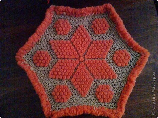 Плетение - Салфетка сплетнная на рамке.
