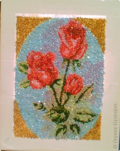 Аппликация: Розы
