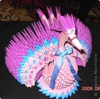 Оригами модульное: Сказочная птица
