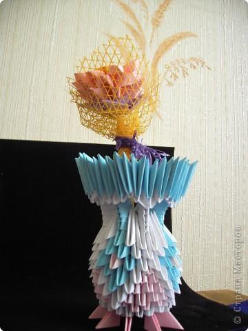 Оригами модульное: Вазочка фото 6