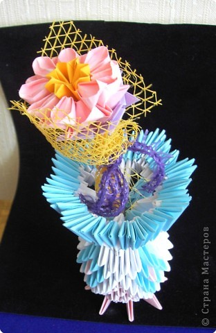 Оригами модульное: Вазочка фото 7
