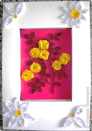 Квиллинг: Жёлтые розы