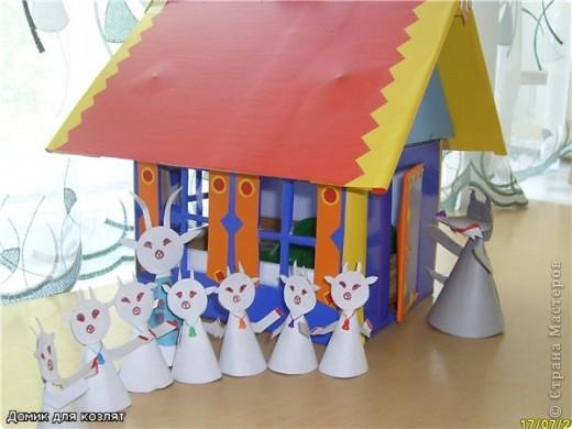 театр Волк и семеро козлят  , делали коллективом на работе( в дет саду)