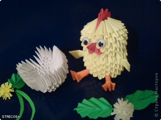 модульное Цыплёнок Бумага
