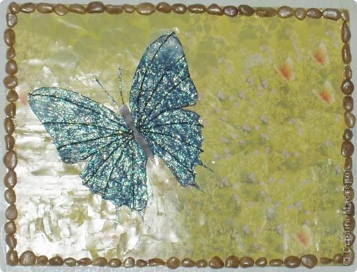 Аппликация из пластилина (+ обратная), Мозаика: Бабочка