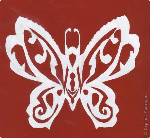 Вырезание симметричное, Вытынанка: Бабочки фото 1