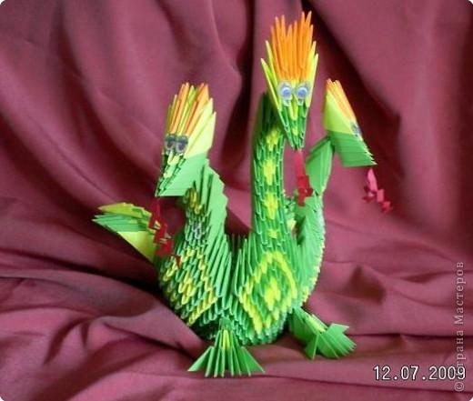 Оригами модульное: Дракоша фото 1