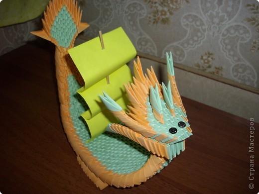 Оригами модульное: Лодка-Дракон фото 2