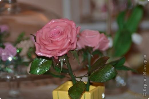 Роза с лаком из кукурузного крахмала  фото 1