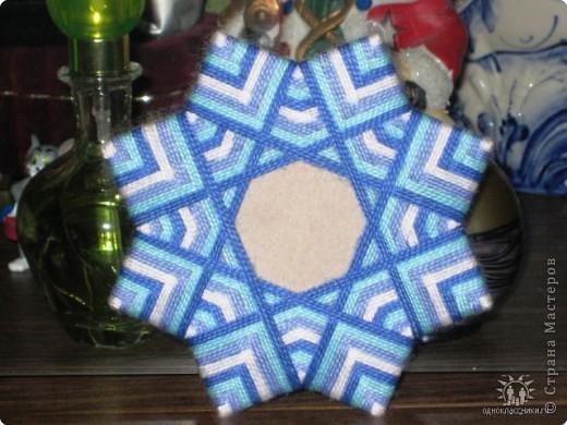 Плетение: Рамка для фото (или снежинка..). С описанием, как делать