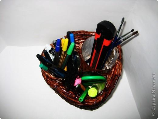 Плетение: карандашница (тройная) фото 2