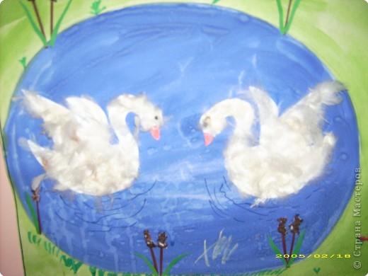 Аппликация: Лебеди  фото 2