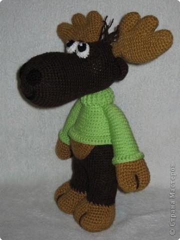 Вязание крючком: Мой лосик фото 2