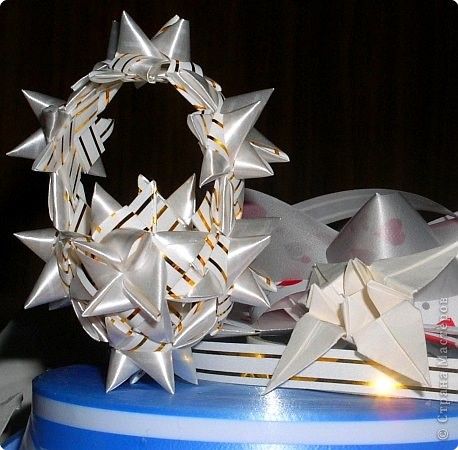 Корзиночка из бумажных цветов