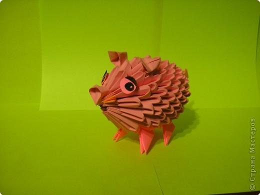 Оригами модульное: Мой поросенок