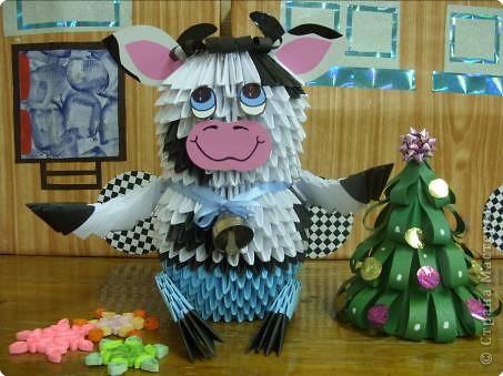 Оригами модульное: С Новым годом!