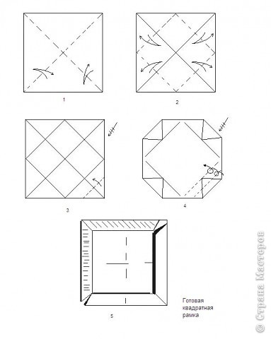 """Оригами: Описание работы """"Красный цеток в рамке"""" фото 1"""