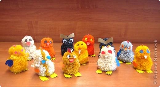 Игрушка мягкая: Цыплята и совята фото 2