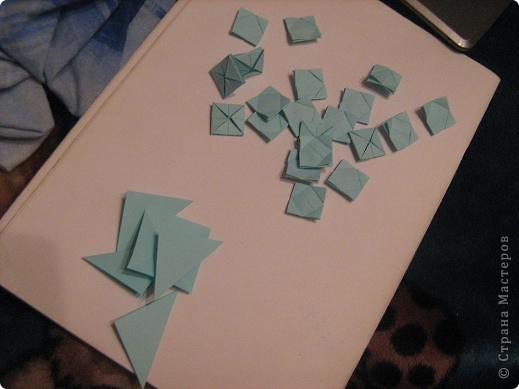 Оригами модульное: модуль для мозаики фото 5