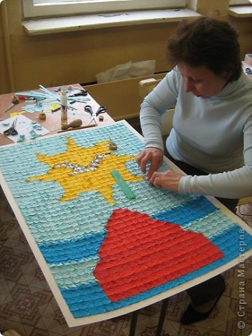 Оригами модульное: модуль для мозаики фото 6