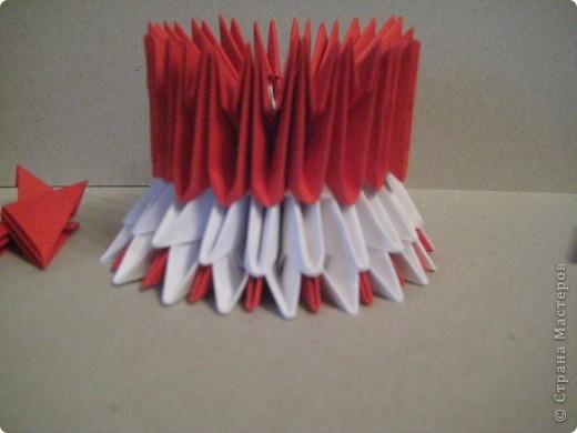 Кукла изготовлена методом модульного оригами. Волосы - из нитей. фото 11