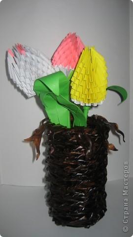 Плетение: ваза из газет