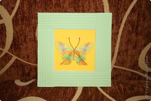 Изонить: Бабочка