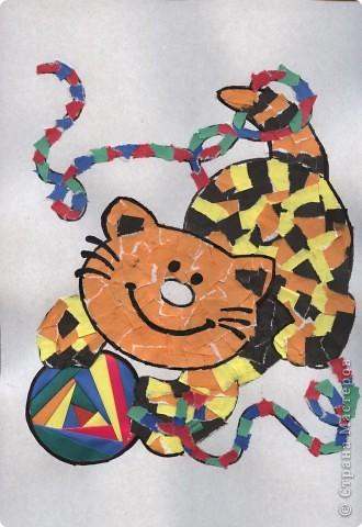 Айрис фолдинг, Мозаика: Посвящаю памяти моего любимого кота Кеши фото 1