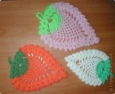 Вязание крючком: клубничка