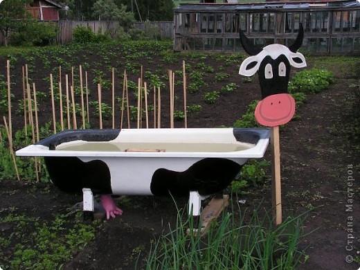 Несколько лет ванну используем для полива грядок и в жаркие дни для купания детям. В этом году сестра решила эту ванну преобразить. фото 2