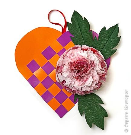 Сердечко с цветком