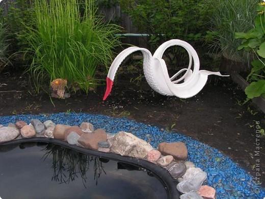 Наш водоём живёт своей жизнью. И раз не получается вырастить водяную лилию, мы решили его просто оживить. Болончик с голубой краской нам в этом помог. Теперь у нас лазурный берег!!!!!!!!! фото 3