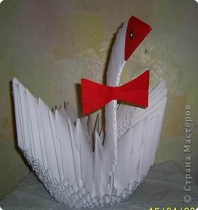 Оригами модульное: ЛЕБЕДУШКА