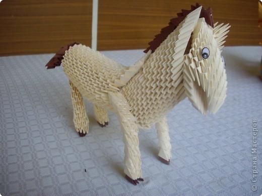 Оригами модульное: Лошадь фото 1